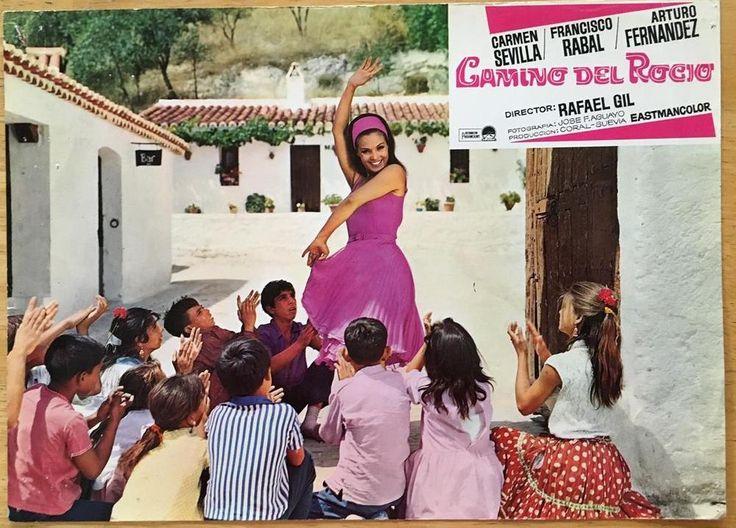 Gorgeous  Carmen Sevilla dancing 1966 Camino del Rocío lobby card 336