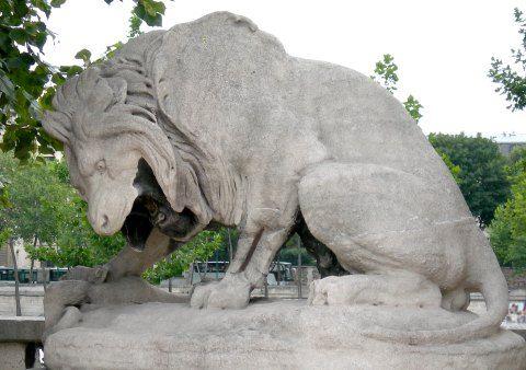 Antoine louis barye le lion au serpent jardin des for Au jardin des tuileries