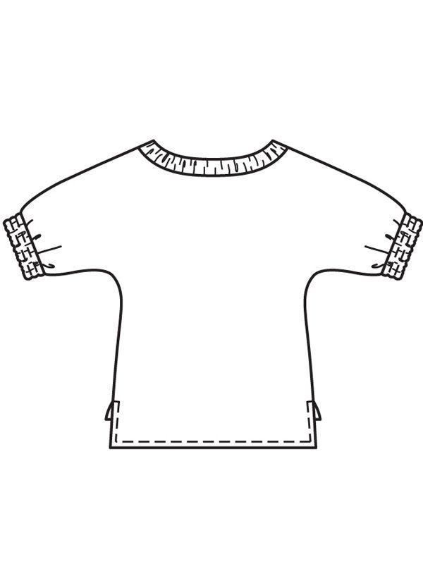 64c4ee88c5d Блузка с цельнокроеными рукавами - выкройка № 108 A из журнала 2 2018 Burda  – выкройки блузок на