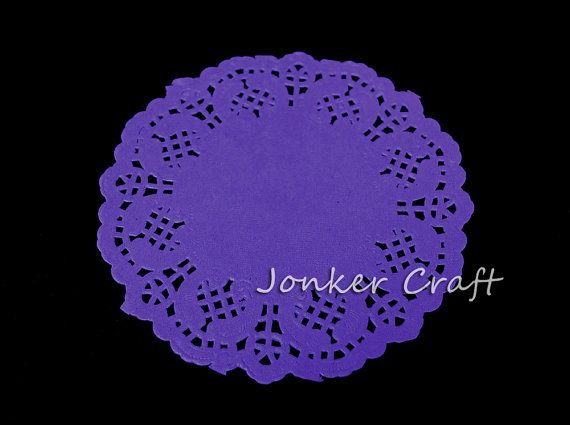 """Lavender Paper Lace Doily 20 Pieces 4.5"""" inch Doilie Lace Cake Wedding Scrapbook Gift Wrap Card Making"""