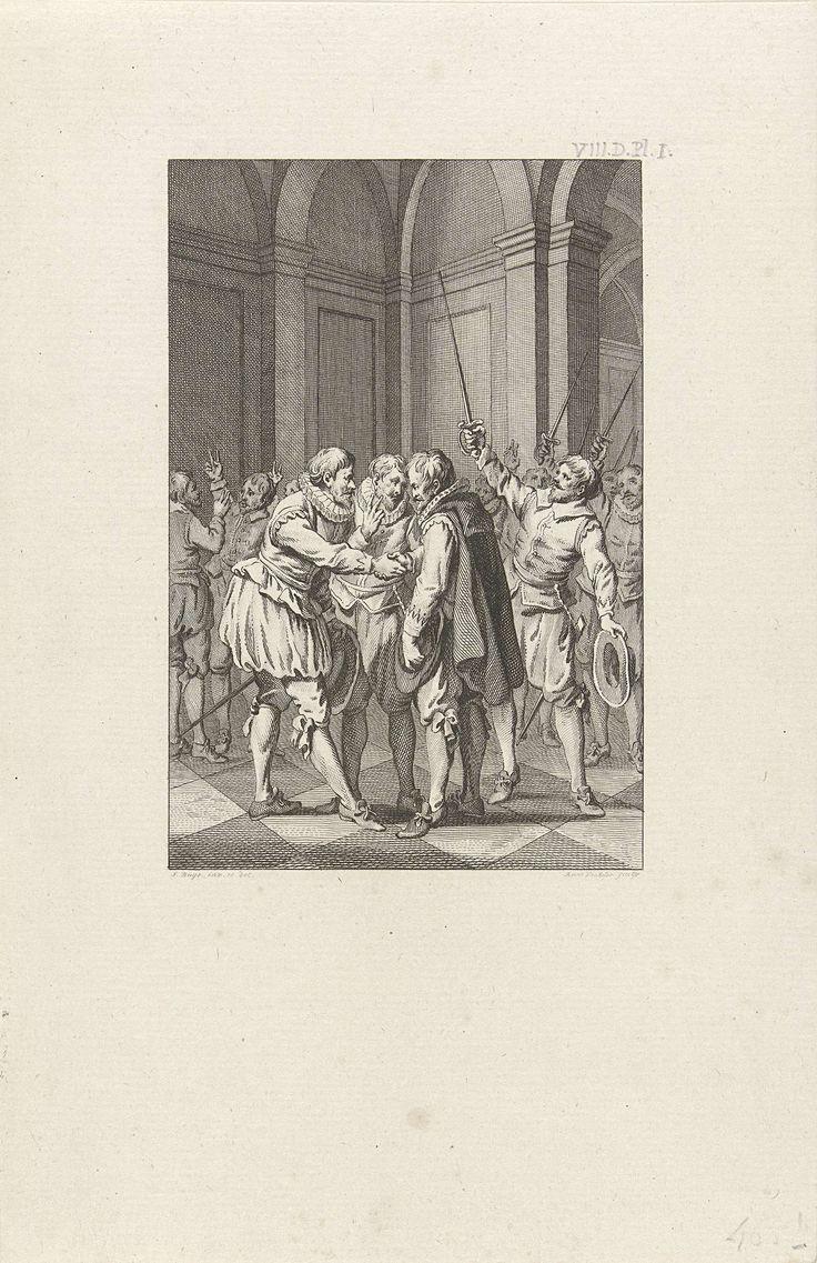 Reinier Vinkeles | Het verbond der edelen, 1565, Reinier Vinkeles, 1787 | Het verbond der edelen op het kasteel van Hendrik van Brederode te Vianen, 1565.