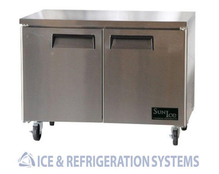 "Sun Ice 48"" Commercial Undercounter Reach in Refrigerator Cooler Sunur 48 | eBay"