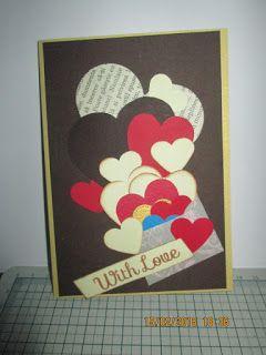 Dan@rt Handmade: Ziua 2,cardul nr 2 .,,Inimioare,,