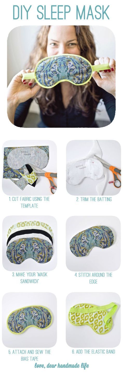 Un antifaz para descansar como princesa en las noches. #Sleep #Sew #DIY