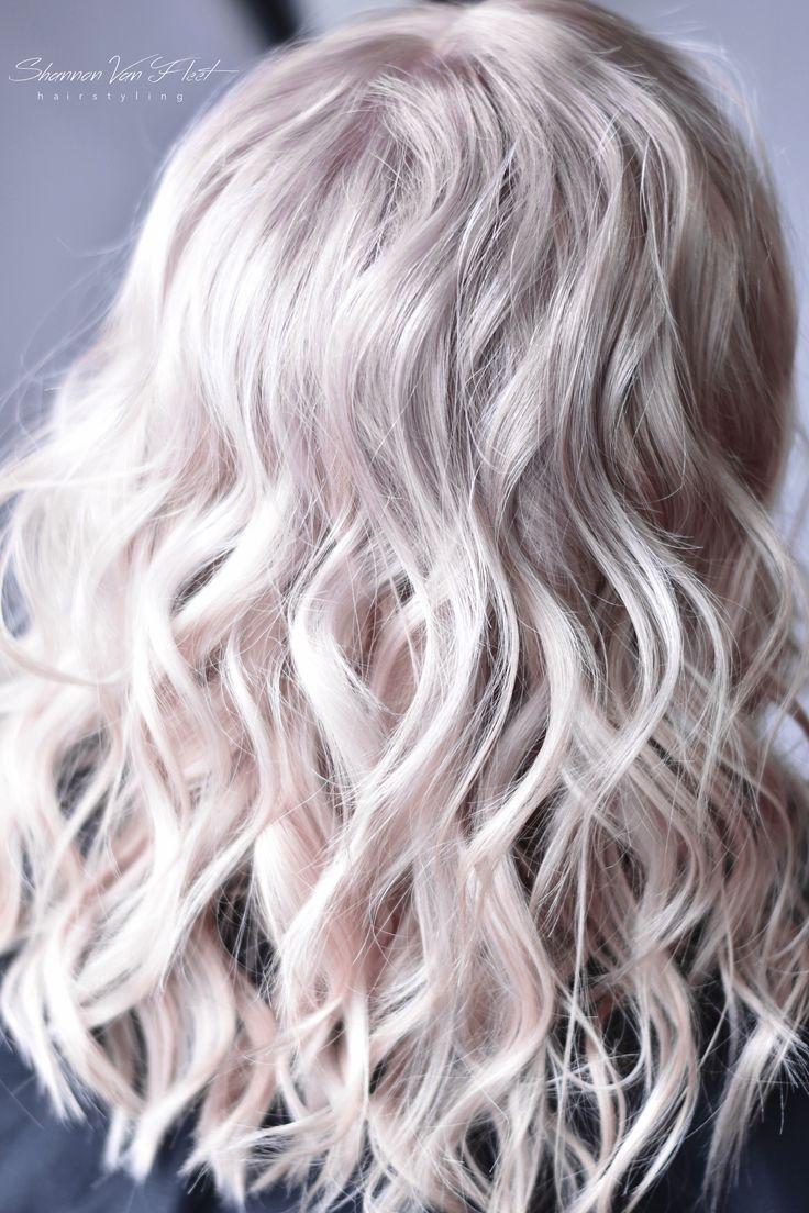 Soft Cool Toned Pearl Platinum Blonde hair color