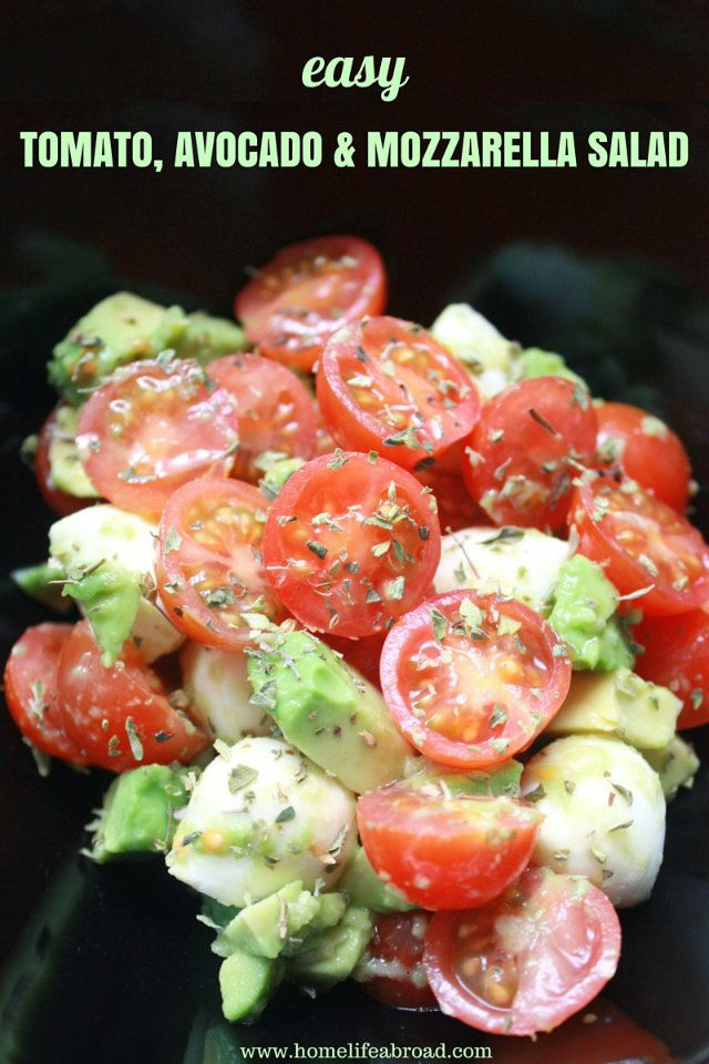 This easy Tomato, Avocado and Mozzarella Salad is one of my favorite salads! Sometimes I even add some Jamón Serrano to it!