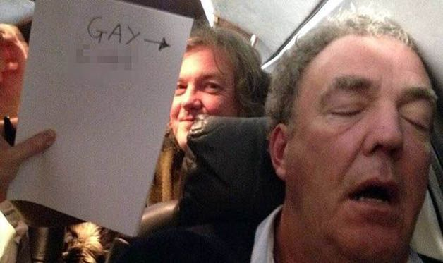 Report: Jeremy Clarkson apologizes for gay slur in Twitter pic - http://www.justcarnews.com/report-jeremy-clarkson-apologizes-for-gay-slur-in-twitter-pic.html