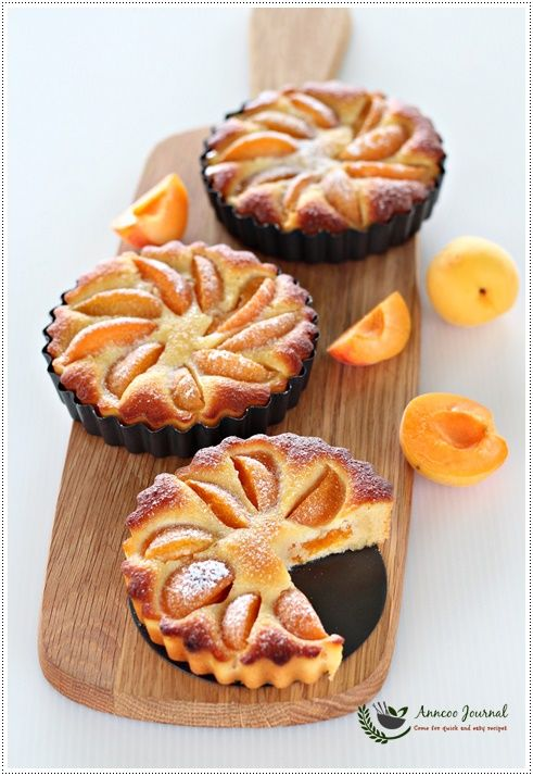 Gluten Free Apricot Almond Tart 无麸杏脯杏仁挞 | Anncoo Journal - Come for Quick and Easy Recipes