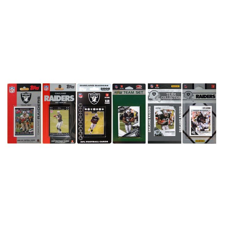 NFL Oakland Raiders 6 Different Licensed Trading Card Team Sets - RAIDERS611TS