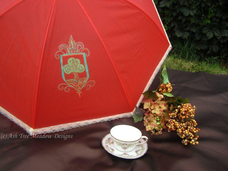 Name: Tree of Life Parasol, Royal Parasol, Fantasy Parasol, parasols, parasol, fancy umbrella, by AshTreeMeadowDesigns on Etsy