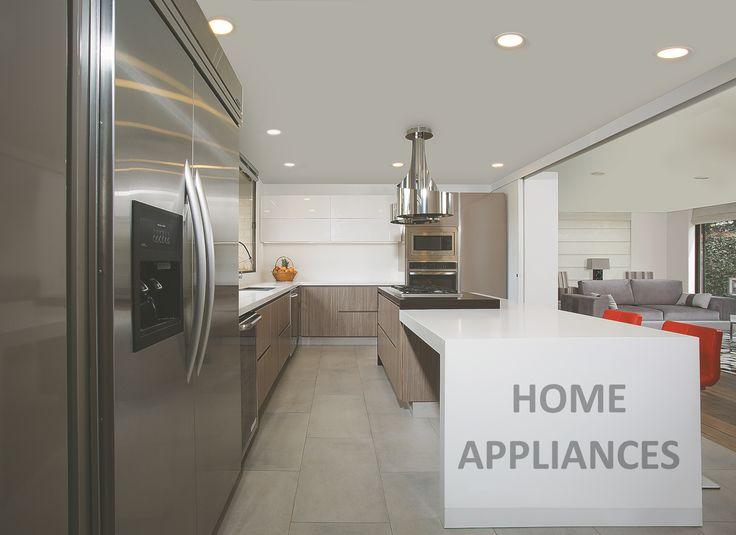 cocinas modernas #cocinas #kitchen #design #isla #Home #homeappliances #Electrodomesticos #Persianas #Art