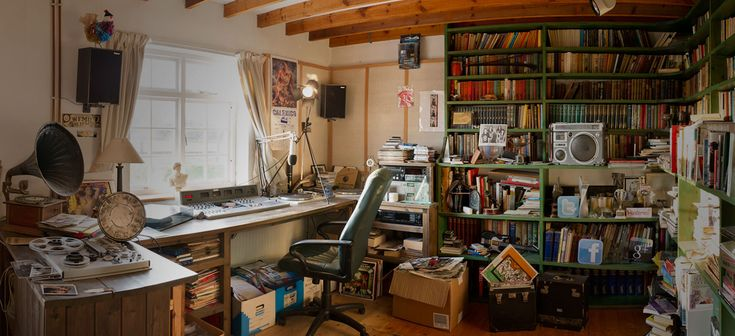 The late great John Peel's office. His family is making his 50,000+ vynal and music collection public. It will take time, but eventually this will stand as one of the greatest collected records of the history of music. Besides, this room is my definition of what heaven looks like.
