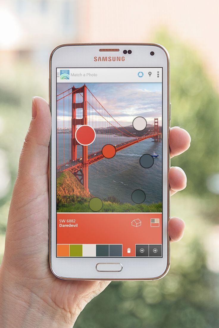 Get color inspiration from your breathtaking photos with ColorSnap's Match a Photo feature.