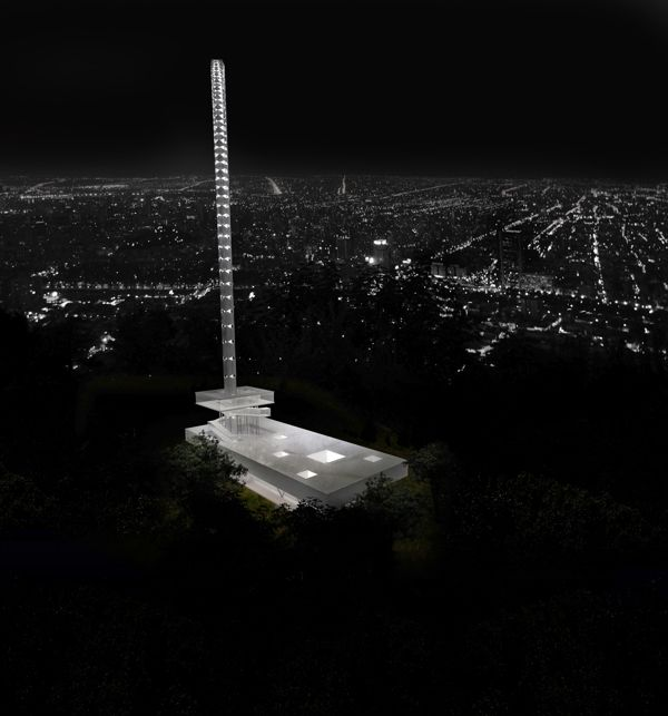 Telecommunications Tower, Santiago, Chile by christian beros, via Behance