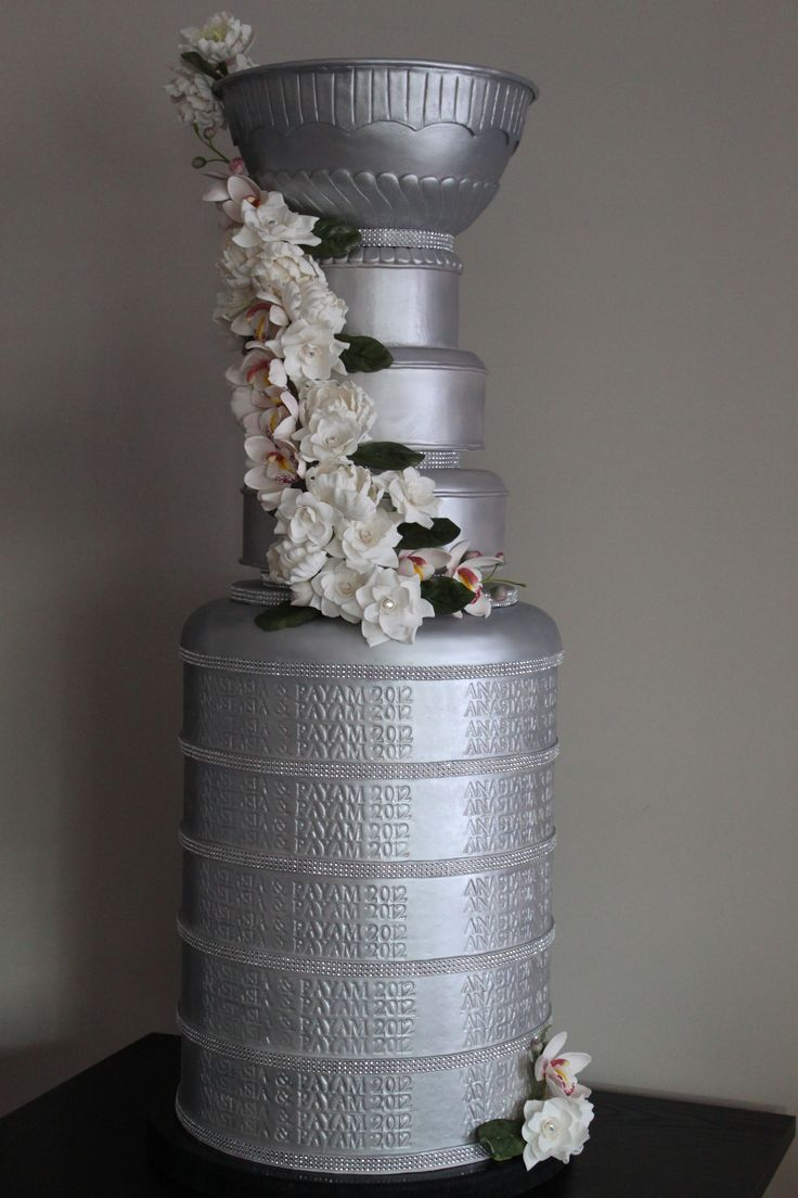 Stanley Cup Wedding Cake On Wedding Cakes With The Stanley Cup Cake Dummy Version  5