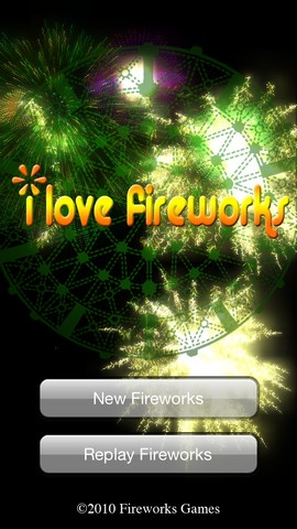 iPhone Screenshot 5, Fireworks app. Great for teaching cause and effect!