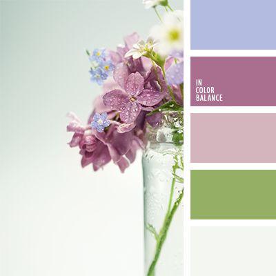 color lila, combinaciones de colores de diseño, gris y verde, malva y lila, rosado y verde, tono pastel de color rosado, tonos lilas, tonos malva, tonos pasteles suaves, tonos rosados, verde y lila, verde y rosado, verde y violeta, violeta y lila.