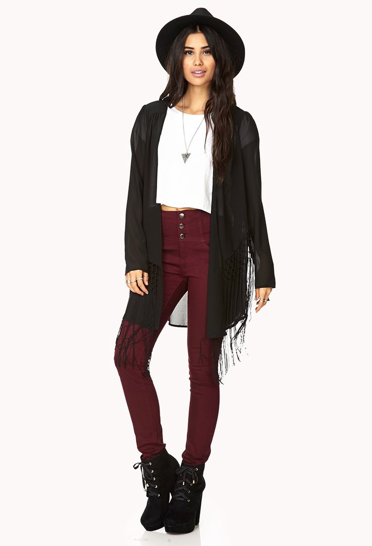 Fringe Queen Open-Front Cardigan | FOREVER21 Fashion Queen ...
