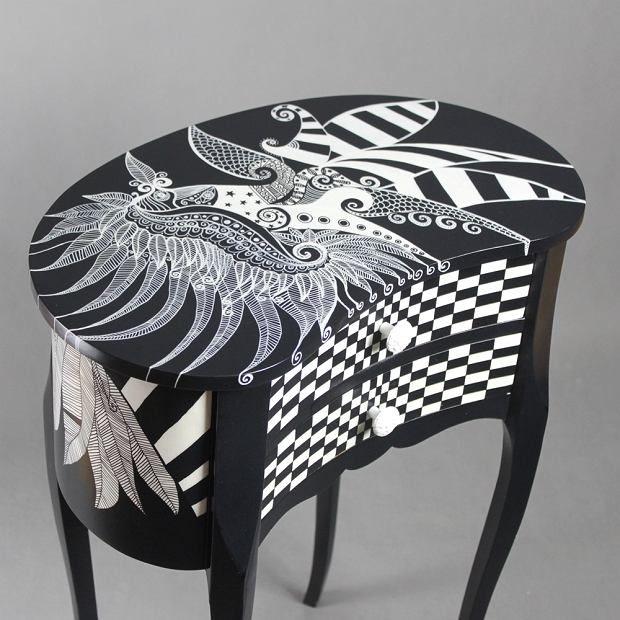 Zdjęcie numer 12 w galerii - Polski projekt: ręcznie malowane meble od Art PoPo
