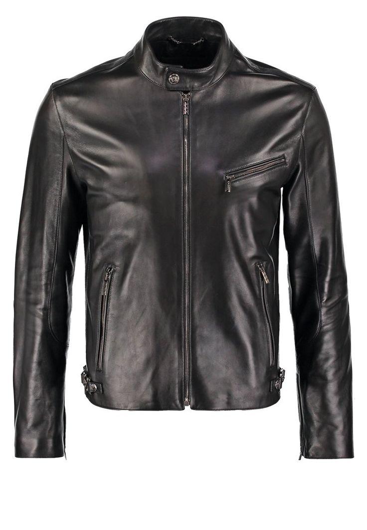 Versace Kurtka skórzana nero 16,579.00zł  Materiał: 100% skóra  #moda #fashion #men #mężczyzna #versace #kurtka #męska #skórzana #nero #black #czarny #skóra