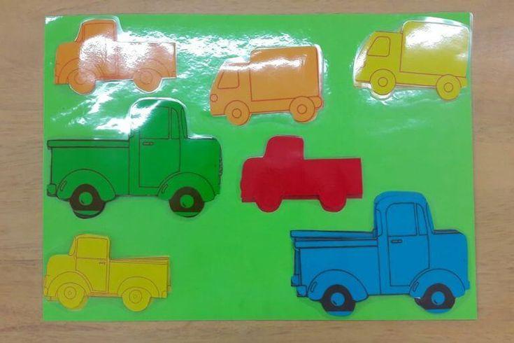 Učíme se s dopravními prostředky – Počítání a barvy