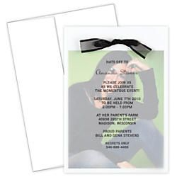 Great Papers Graduation Photo Invitation Kit 5 12 X 7 34 Grad Overlay White  Pack Of · Invitation KitsPhoto InvitationsGraduation PhotosOffice Depot Overlays