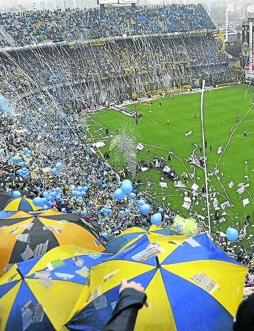 Estadio La Bombonera, de Boca Juniors, Buenos Aires, Argentina.