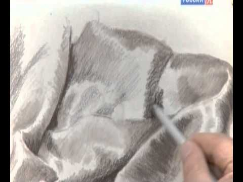 ▶ Уроки рисования с Сергеем Андриякой. Драпировка. - YouTube
