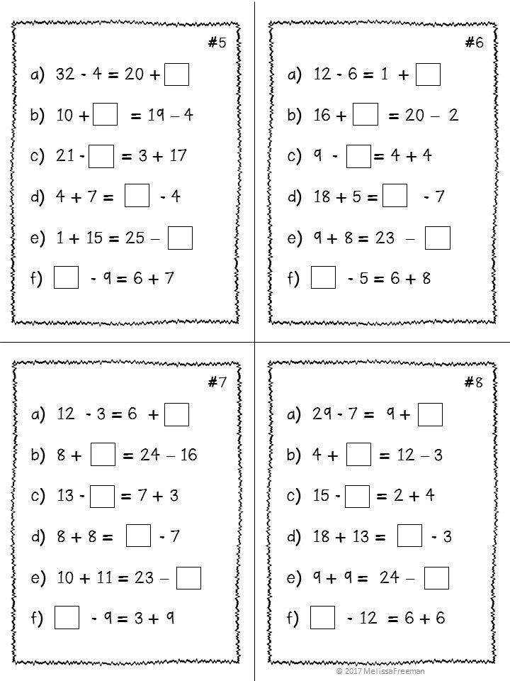 Expressions & Equality Unit for Grade 3 (Ontario Curriculum ...