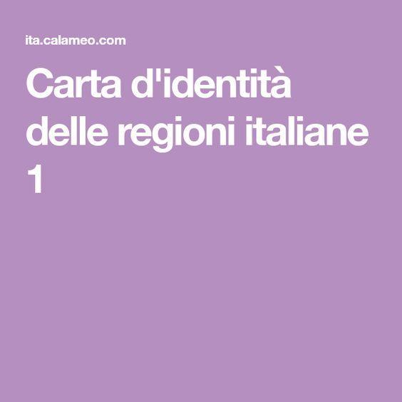 Carta d'identità delle regioni italiane 1