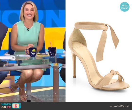 Amy's tie sandals on Good Morning America.  Outfit Details: https://wornontv.net/71868/ #GoodMorningAmerica