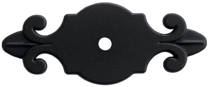 23301-94 Modanera Black Satin Finish Cabinet Knob Back Plate