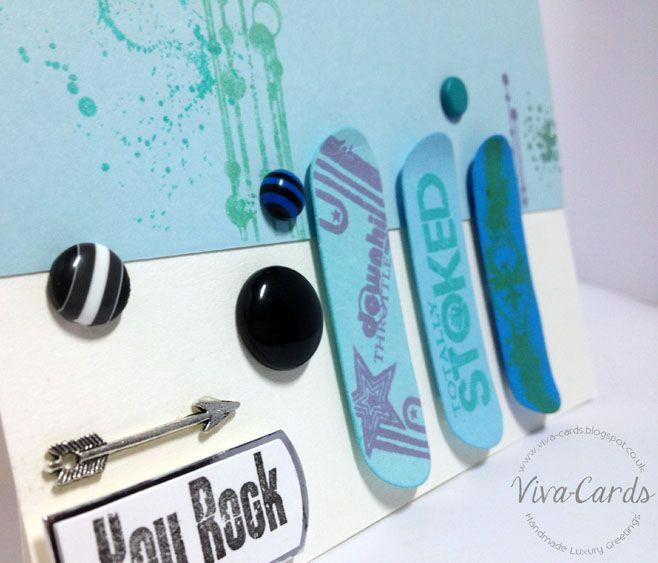 Handmade Card - Skater Boy!