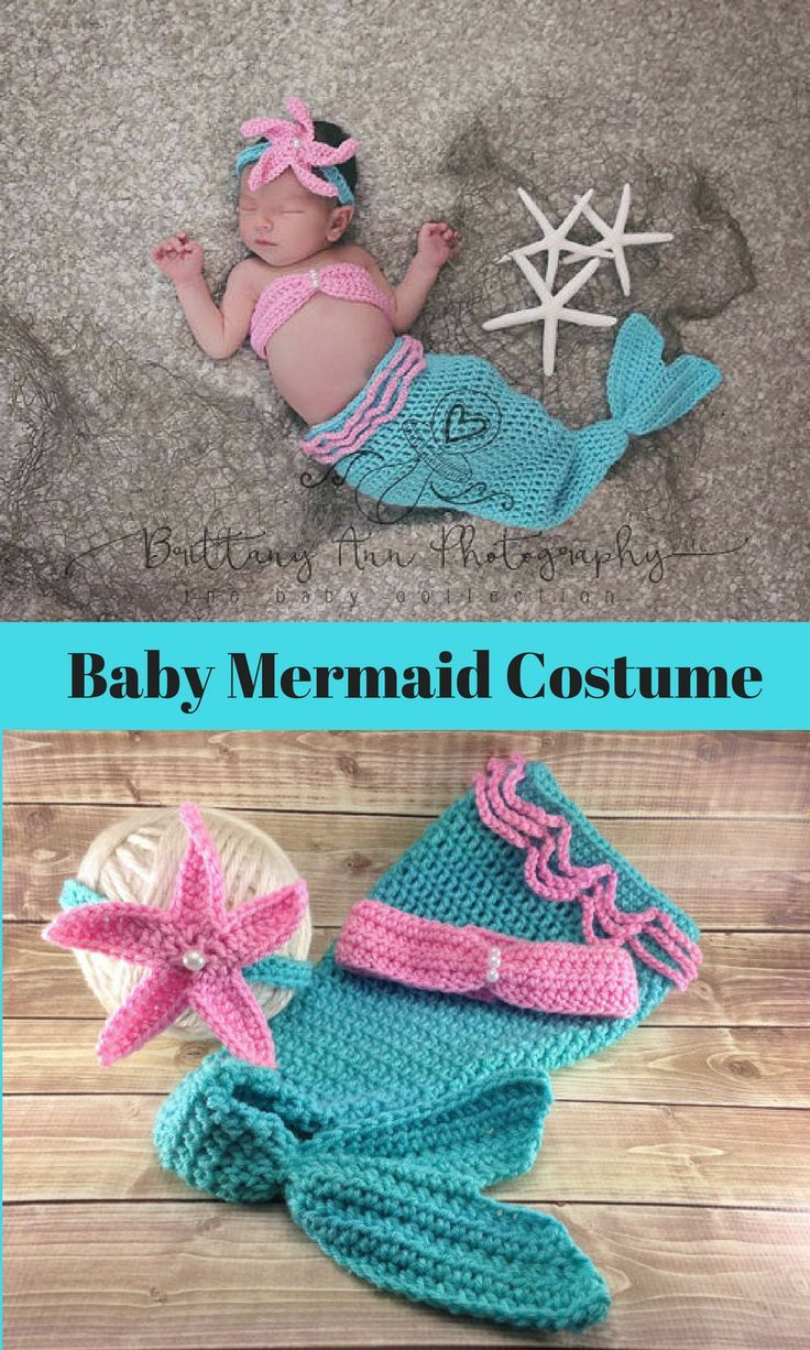 Baby Mermaid Costume for Halloween  #affiliatelink
