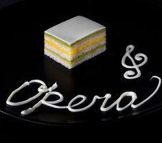 Торт Опера лайм-белый шоколад с лимонным курдом и масляным кремом со вкусом чая мат-тя | Kapreze