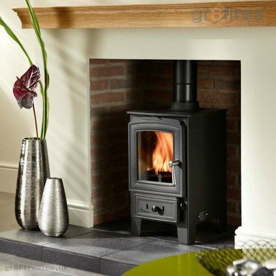 Wood burning stove, simple fireplace