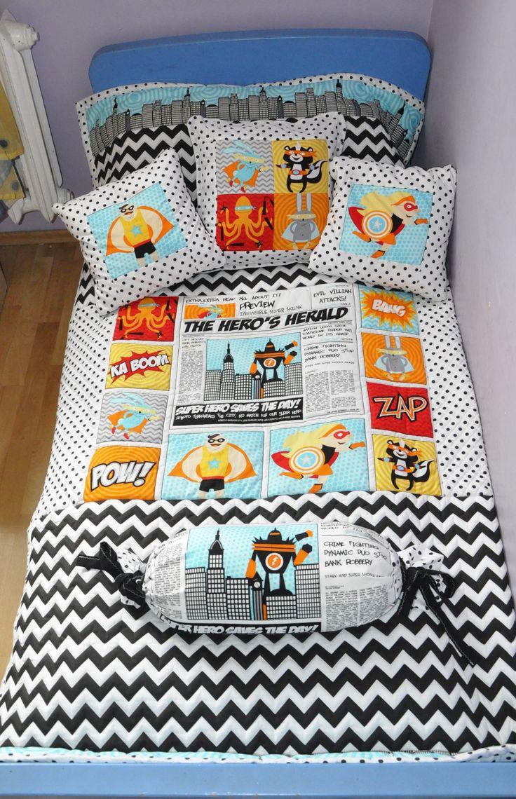 kapa+poduszki Superhero