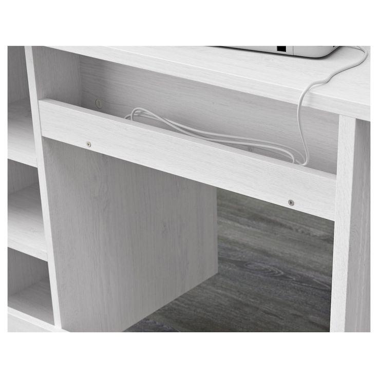 BRUSALI Schreibtisch weiß   Schreibtisch weiss, Ikea schreibtisch weiß und Schreibtisch