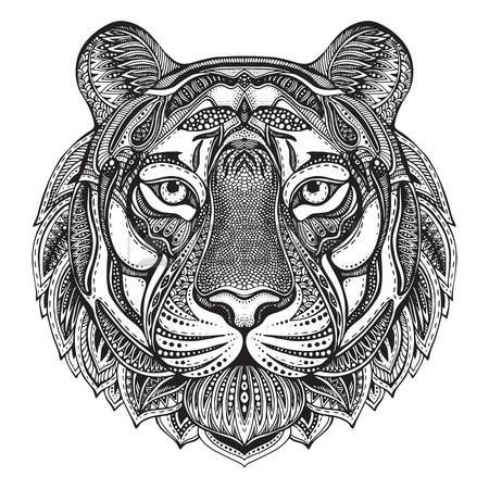 Adult tiger coloring page colorings pages Pinterest Tigers - copy coloring pages of tiger face
