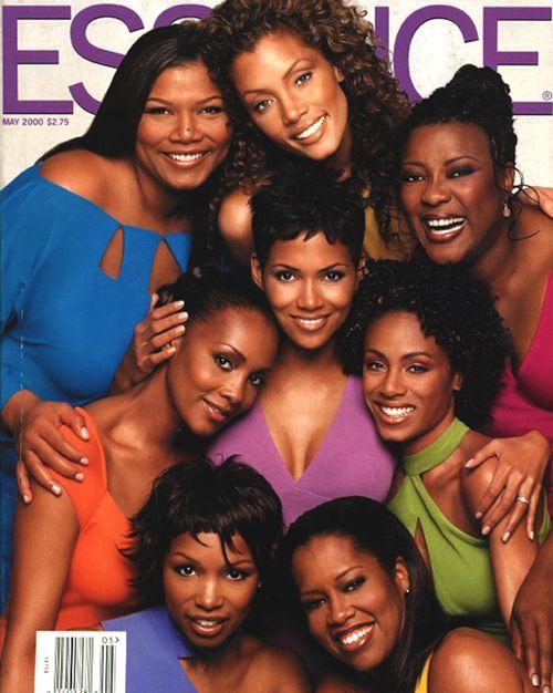 Essence magazine cover May 2000 - Queen Latifah, Michael Michelle, Loretta Devine, Jada Pinkett Smith, Regina King, Elise Neal, Halle Berry and Vivica Fox.
