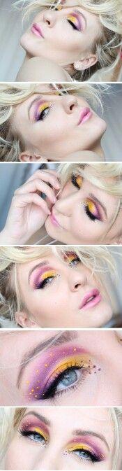 Desert flower makeup