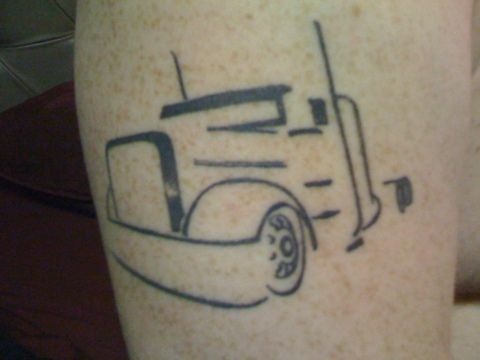 big rig outline tattoo tattoos piercings pinterest rigs and tattoo. Black Bedroom Furniture Sets. Home Design Ideas