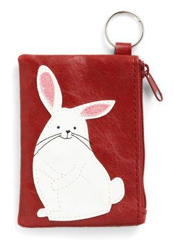 Cute Coin-Keeper Change Purse. Theres no denying that the super sweet bunny on this change purse is just the right size for your keychain - and all of your adventures! #red #modcloth