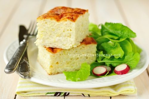 Рецепт запеканки из кабачков и риса