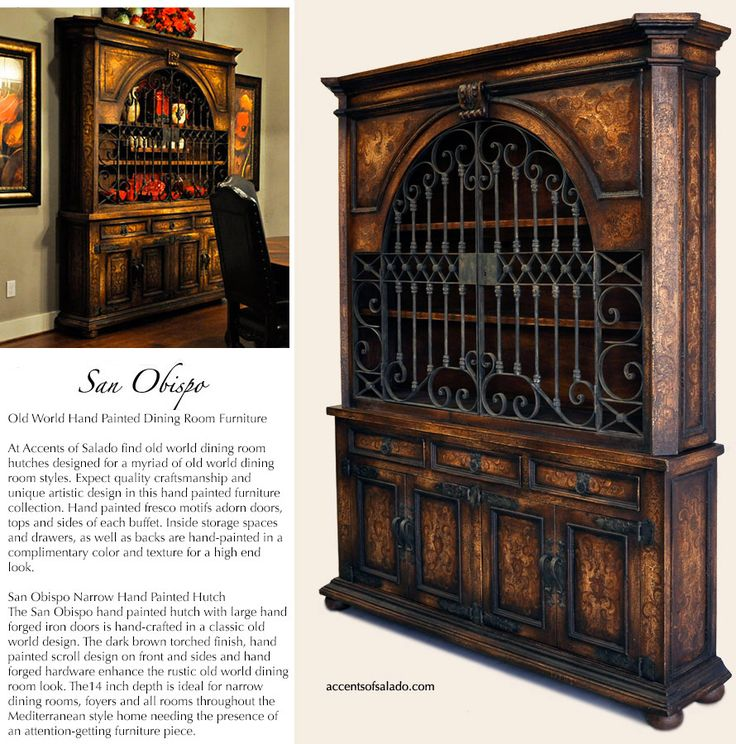 Old World Tuscan Furniture For The Old World Dining Room