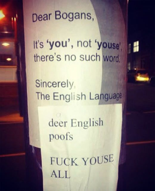 Deer English poofs. I read this in the voice of Jay from 'Jay and Silent Bob'. Made it more funny.