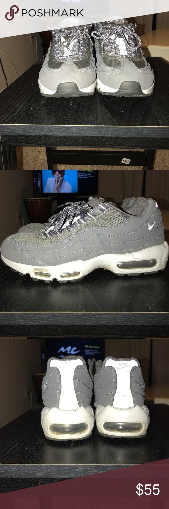 Nike Air Max . Men Size 10 Nike Air Max Size 10 . Air Max 95's . Grey Nike Shoes Sneakers https://tmblr.co/ZmD_Wd2QMvZhb