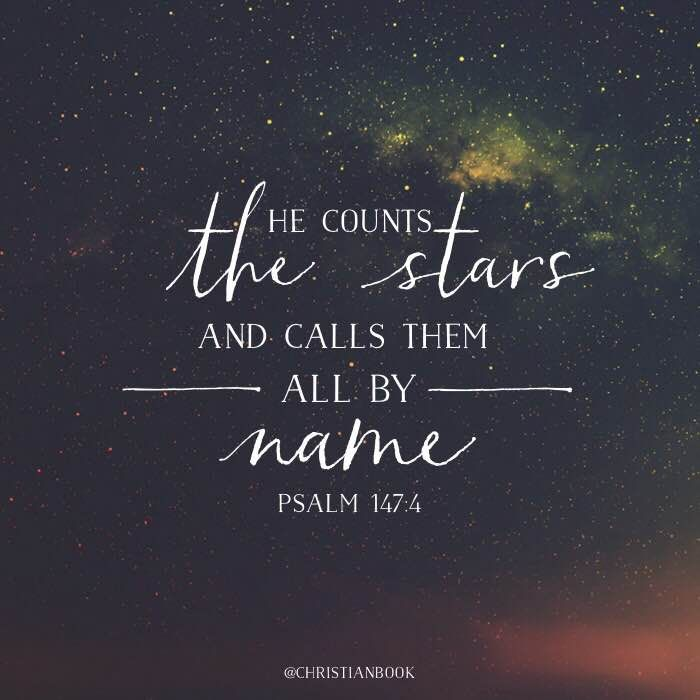 Stunning Designs That Changed The Way We Look At Things: He Counts The Stars And Calls Them All By Name. Psalm 147