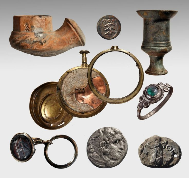Egyptian statues, ancient coins and jewelry among treasures Lord Elgin's brig Mentor carried when the overladen ship sank off the Grecian coast.
