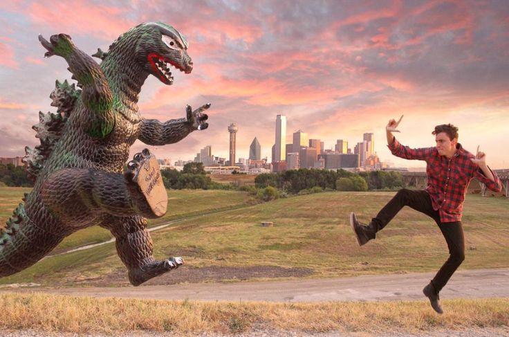 'Ryan Godzilling', un delirante proyecto fotográfico del monstruo Godzilla (Yosfot blog)